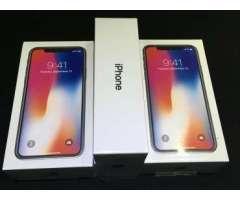 iPhone X 256GB - NEGRO y SILVER - Nuevos, Sellados - Desbloqueados de fabrica