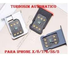 Desbloqueo de iphone con Turbosim Automatico Iphone X/8/7/6/5 Con tu sim 4G LTE 100% Gatantizado