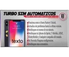 Turbosim para iphone 5,5s, 6,6+,6s,6s+ 7, 7+, 8 plus, Con tu sim 4G LTE 100%