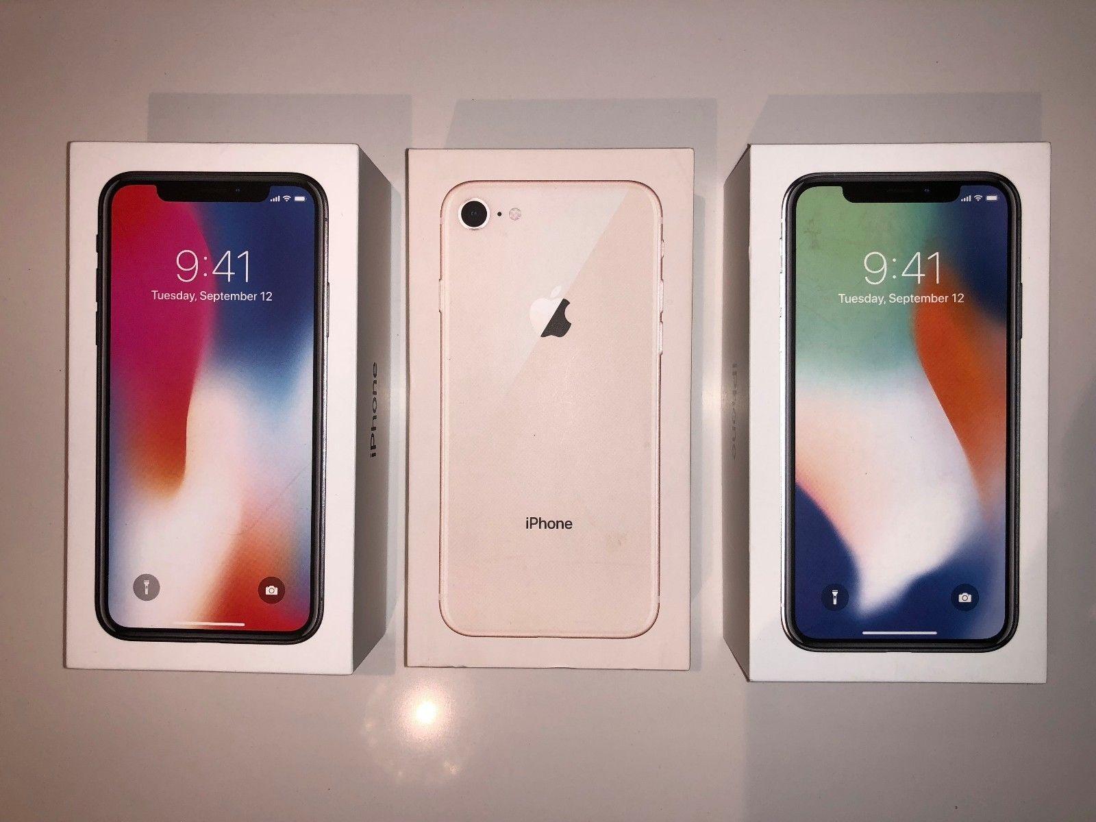 iPhone X 256GB .64GB  Unlocked- USA Model Apple Warranty - BRAND NEW