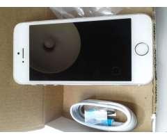 iPhone 5S Silver 16GB, desbloqueado. Condición 4 de 5.