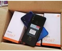 Redmi Note 7, 64GB, 4gb/Ram, Nuevos